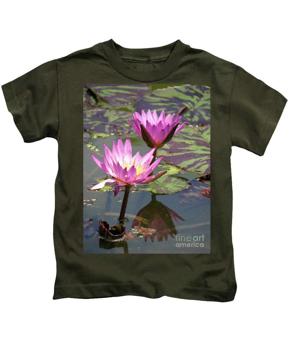 Lillypad Kids T-Shirt featuring the photograph The Pond by Amanda Barcon