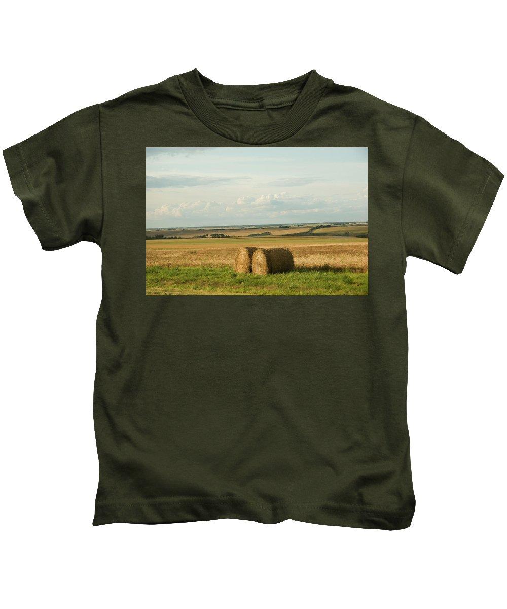 Landscape Kids T-Shirt featuring the photograph The Prairies by Deanna Paull