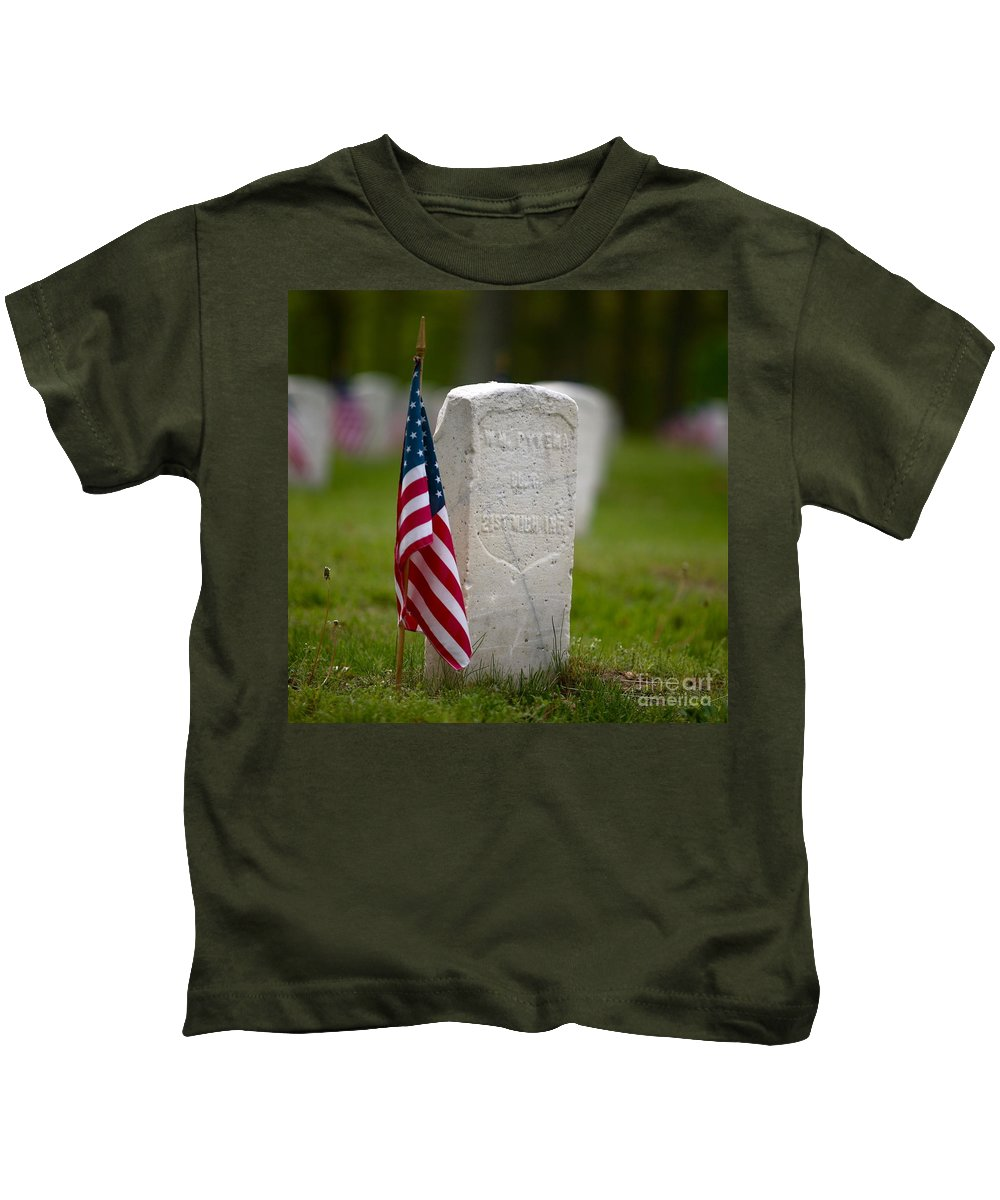 Grave Kids T-Shirt featuring the photograph The Price Of Freedom by Robert Pearson