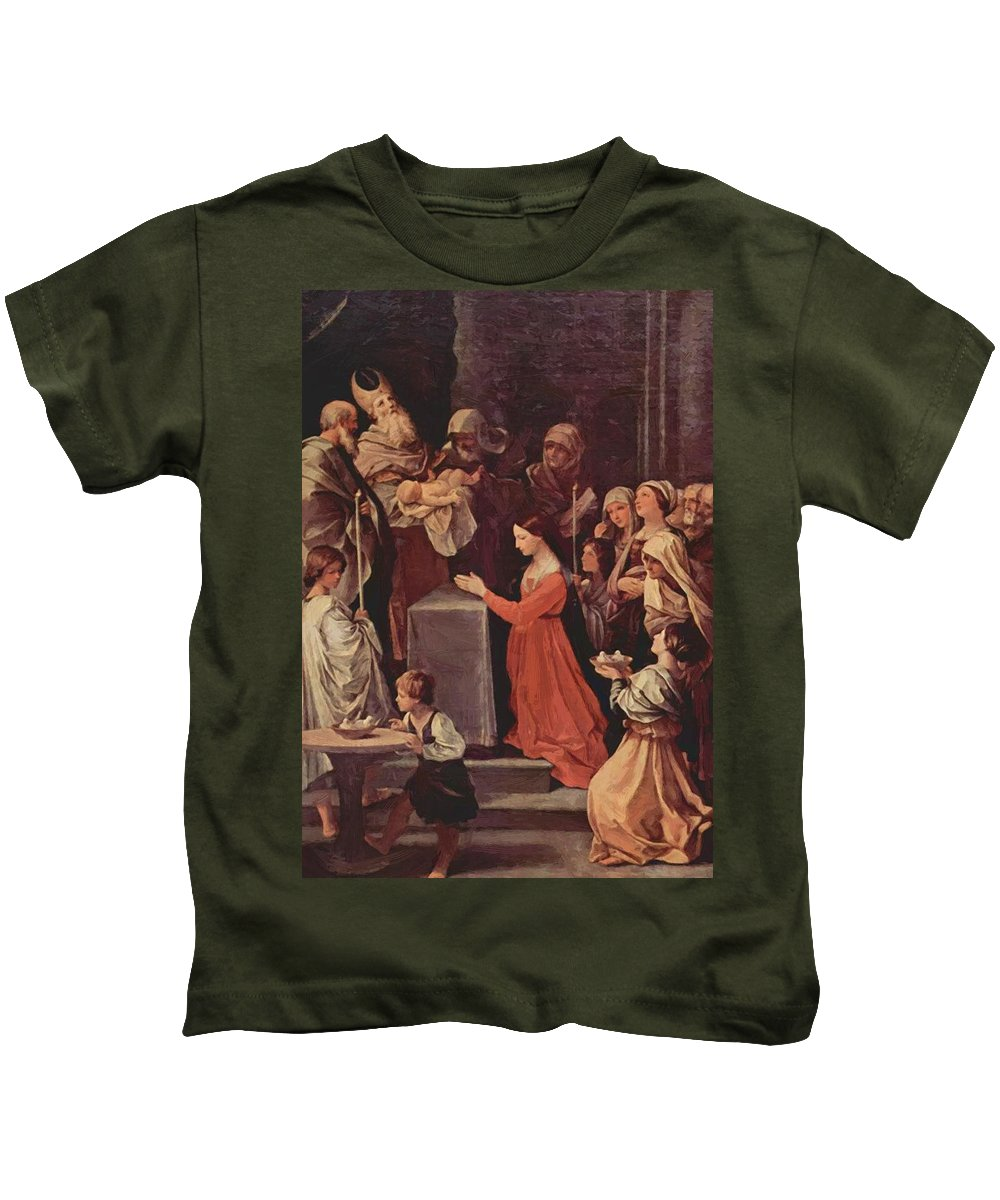 The Kids T-Shirt featuring the painting The Purification Of The Virgin 1640 by Reni Guido