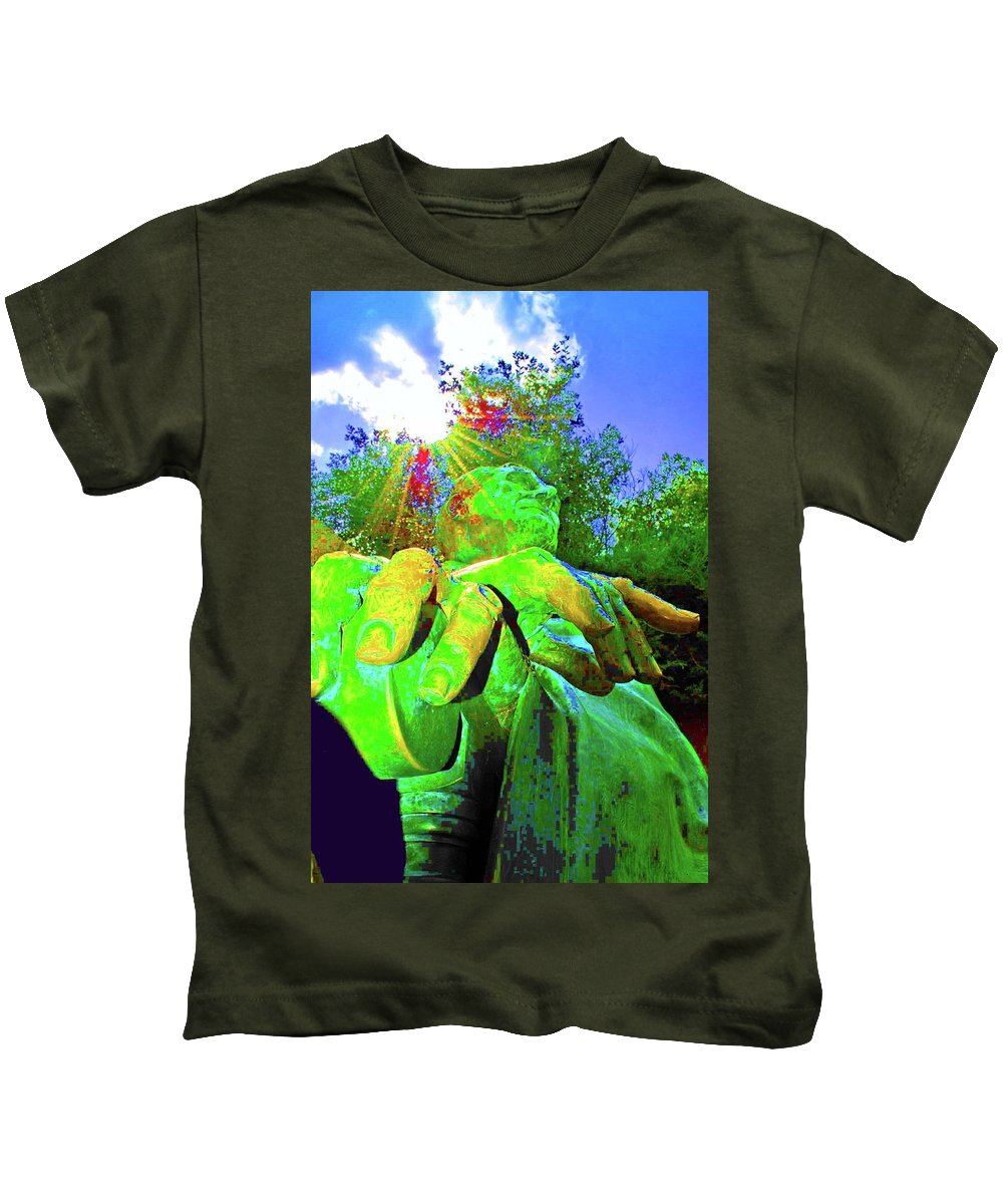 Fdr Kids T-Shirt featuring the photograph The Shine Of Fdr by Jost Houk