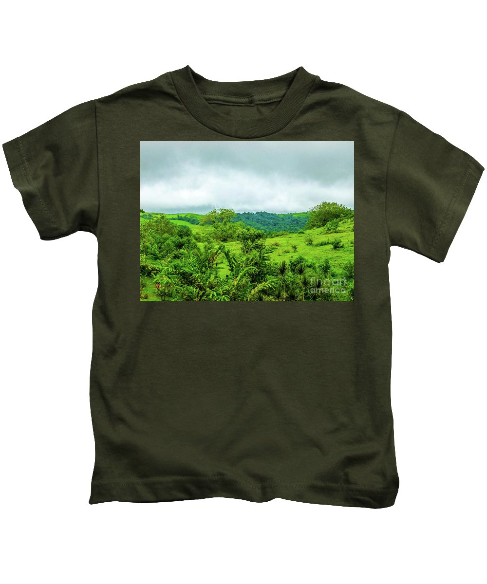 This Is A Photo Of The Costa Rican Terrain In The Rain Forest Region. Kids T-Shirt featuring the photograph The Terrain Of Costa Rica by William Rogers