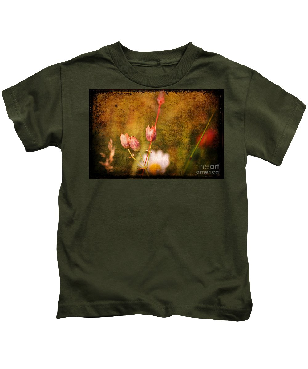 Buds Kids T-Shirt featuring the photograph The Three Of Us by Silvia Ganora