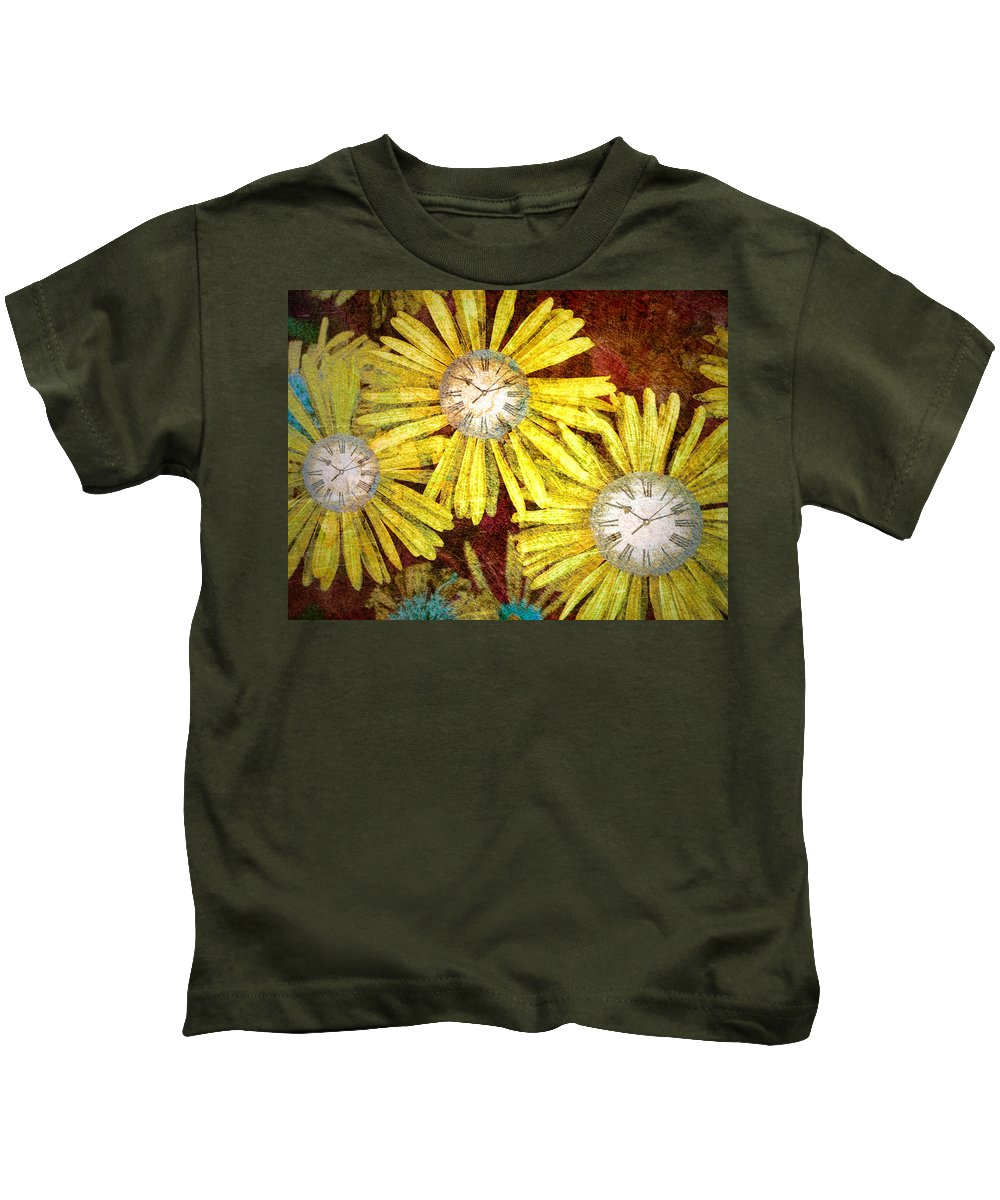 Flowers Kids T-Shirt featuring the photograph The Time Flowers by Tara Turner