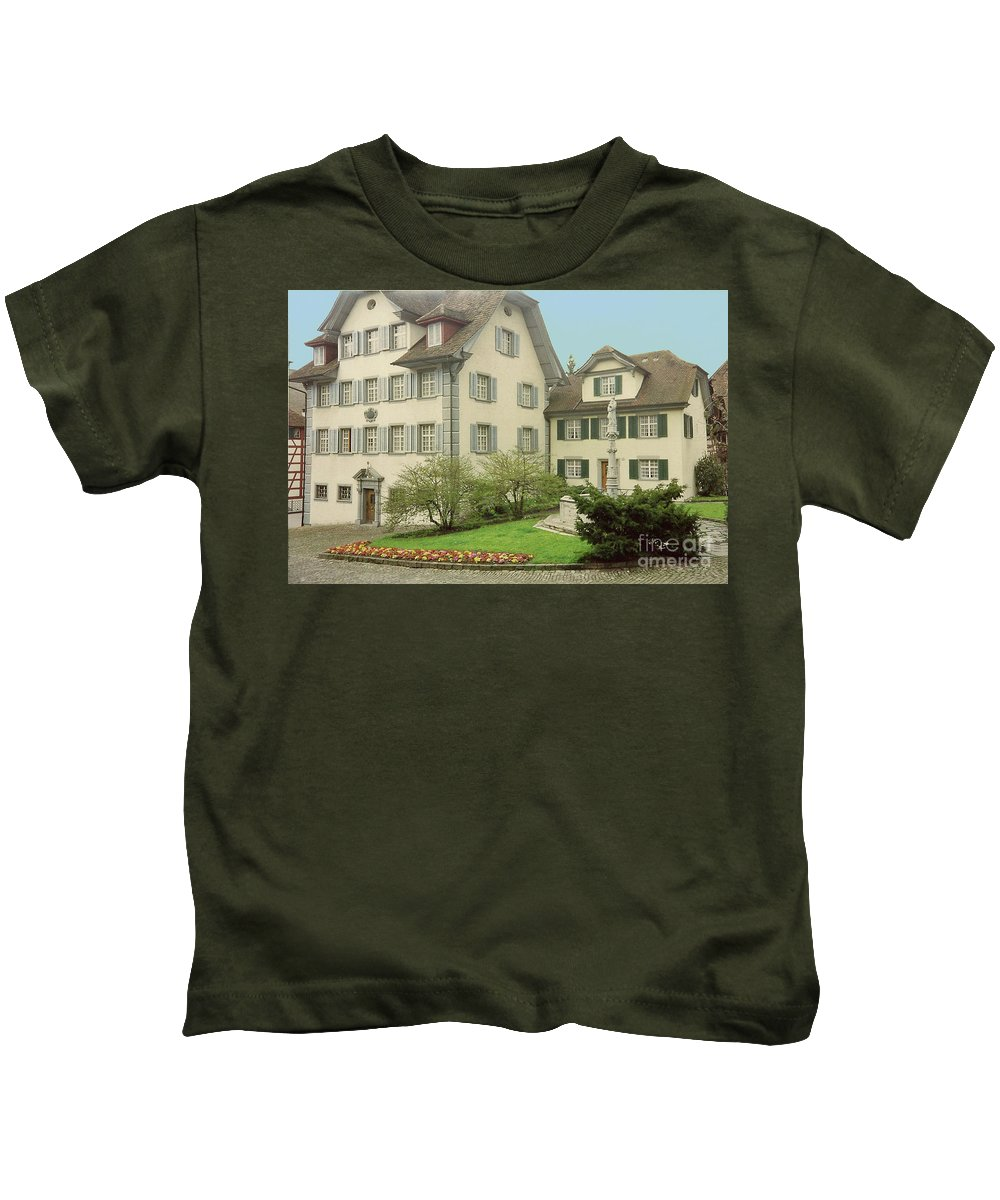 Switzerland Kids T-Shirt featuring the photograph The Village by Jost Houk