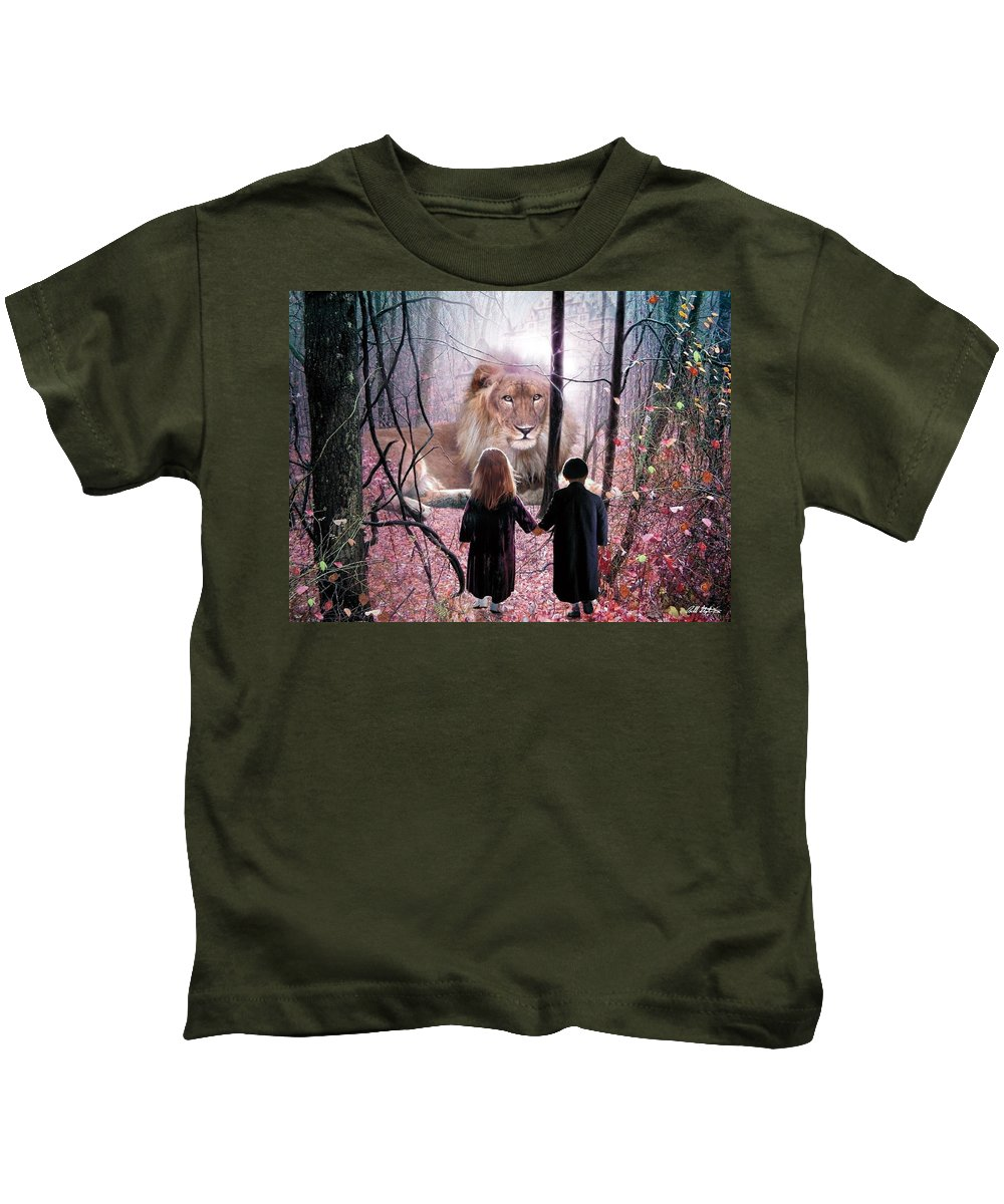 Children Kids T-Shirt featuring the digital art The Way by Bill Stephens