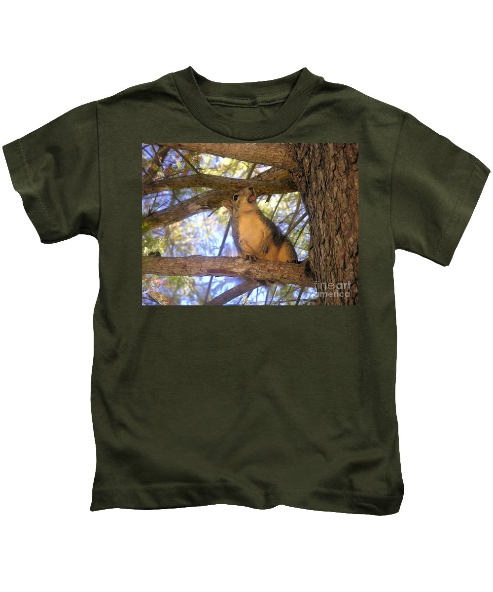 Nature Kids T-Shirt featuring the photograph The Winner by Lucyna A M Green