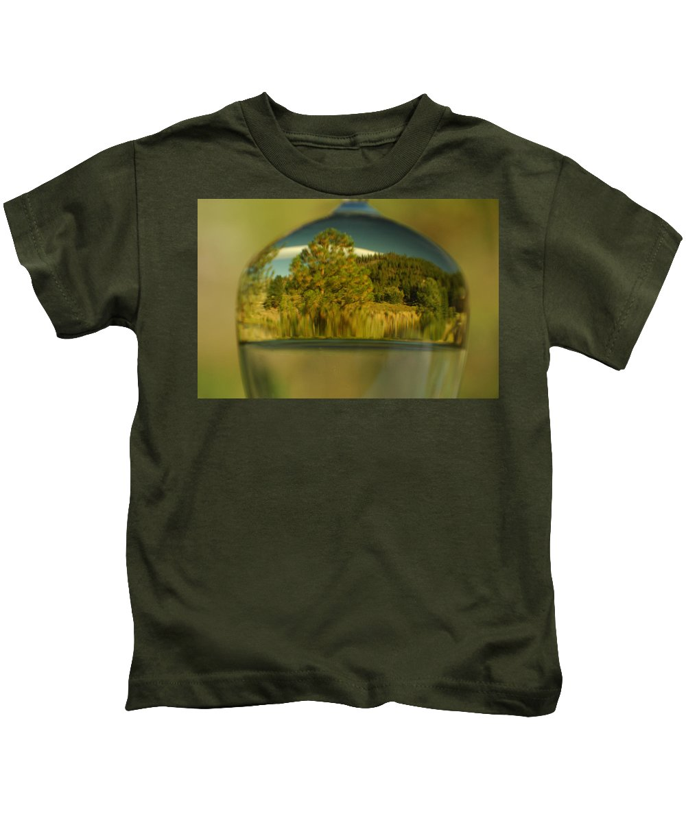 Reflection Kids T-Shirt featuring the photograph The World In Reflection by Donna Blackhall