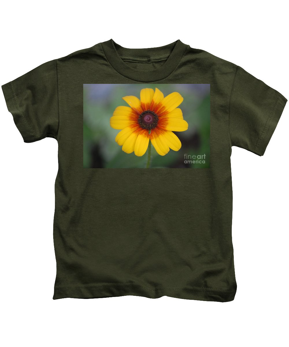 Landscape Kids T-Shirt featuring the photograph They Call Me Mellow Yellow. by David Lane