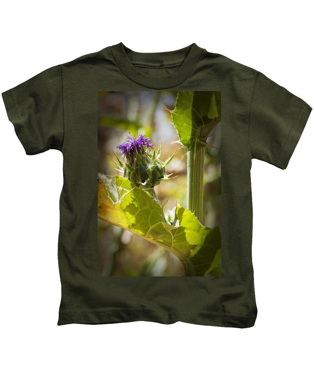 Thistle Kids T-Shirt featuring the photograph Thistle 2 by Kelley King