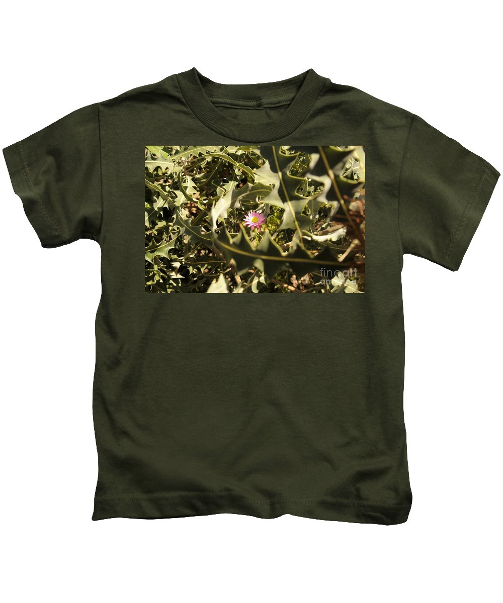 Flowers Kids T-Shirt featuring the photograph Thorn Love by Oscar Moreno