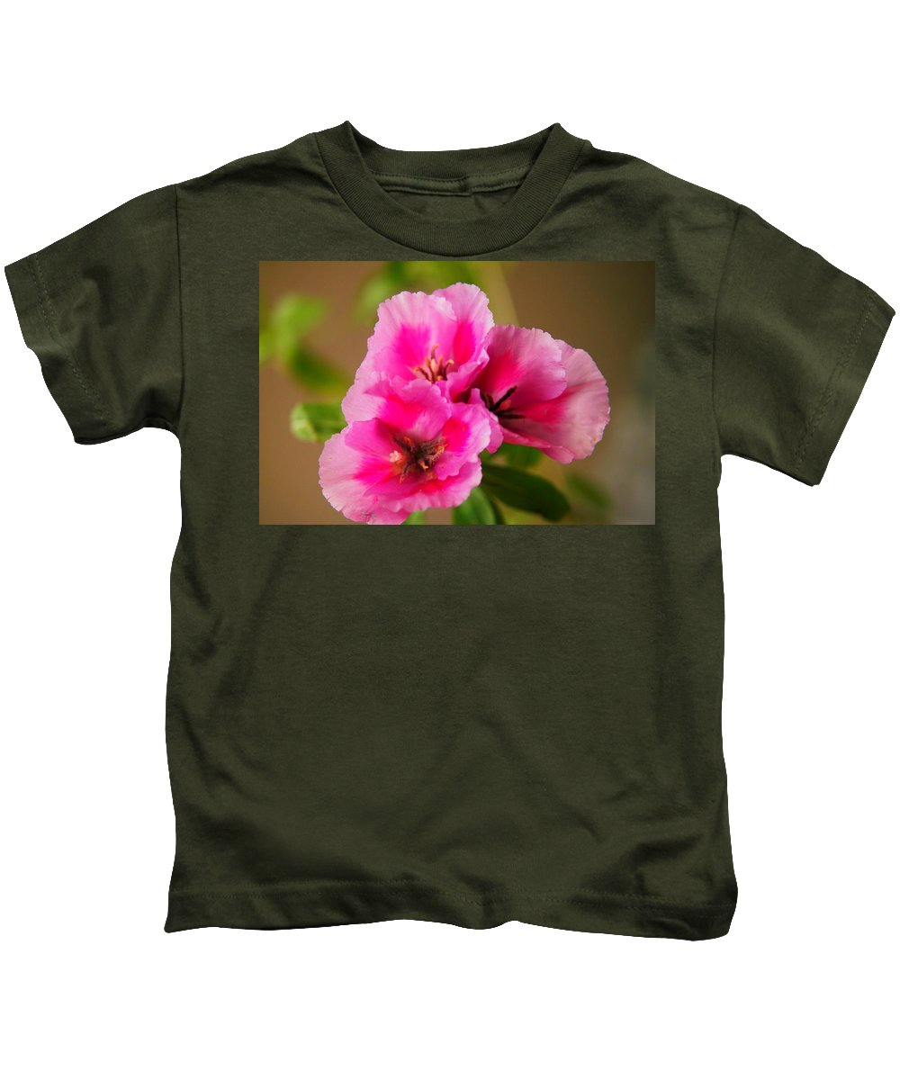 Flowers Kids T-Shirt featuring the photograph Three Little Beauties by Jeff Swan