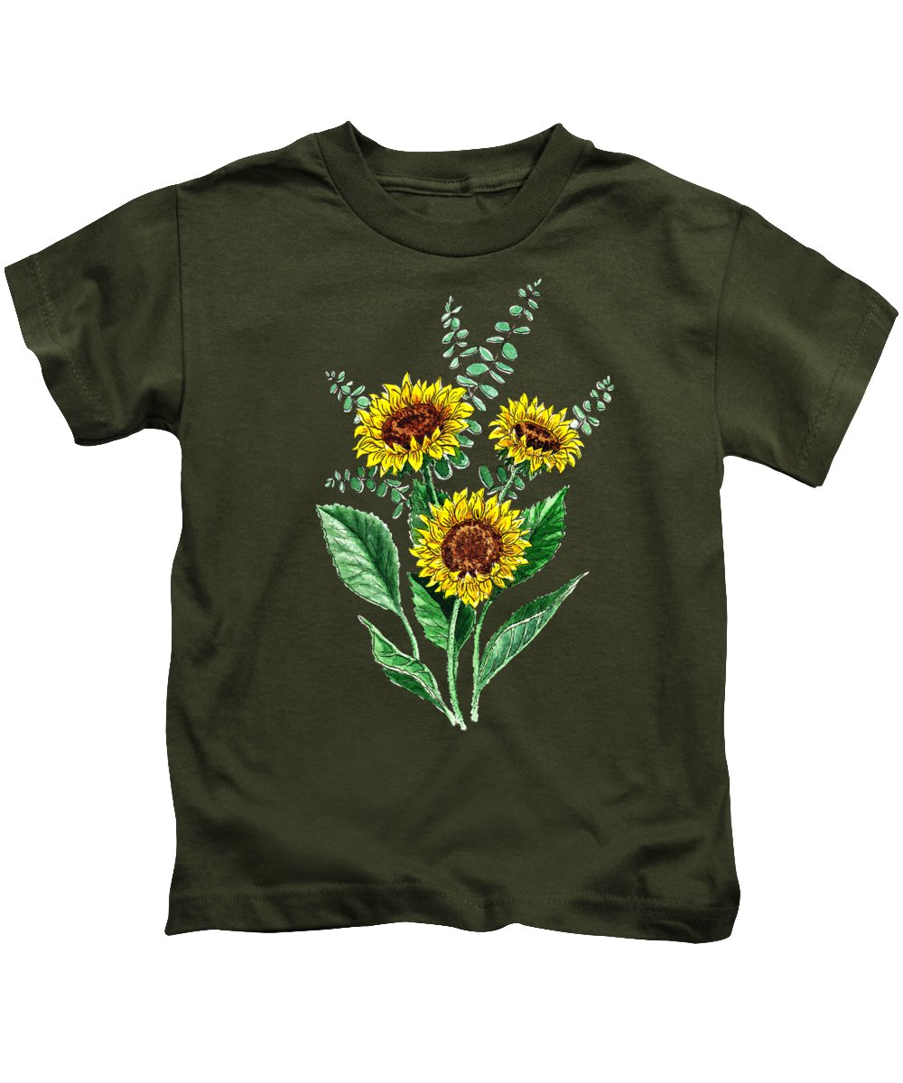 Country Living Paintings Kids T-Shirts