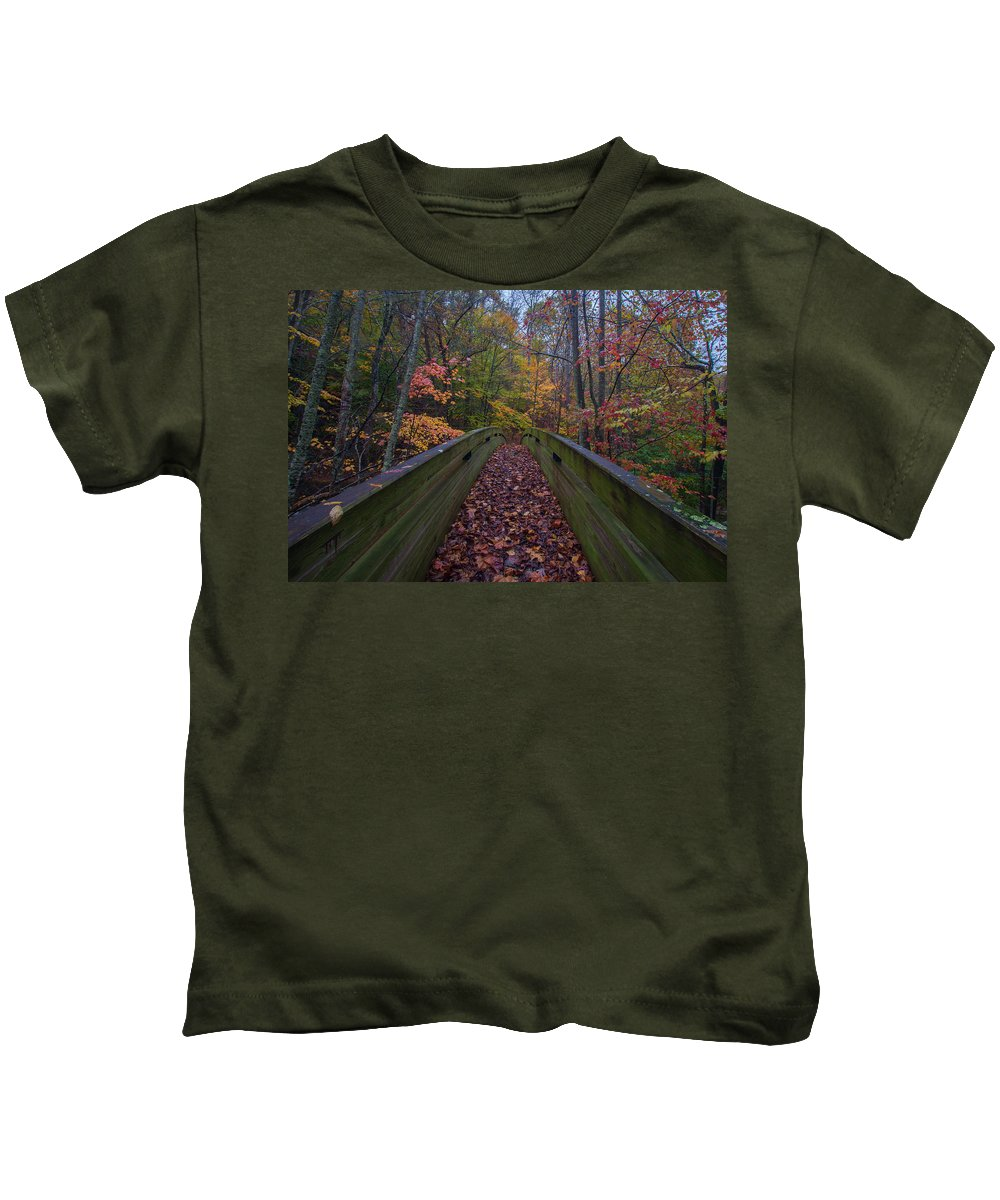 Kids T-Shirt featuring the photograph Through The Woods by Steve Hammer