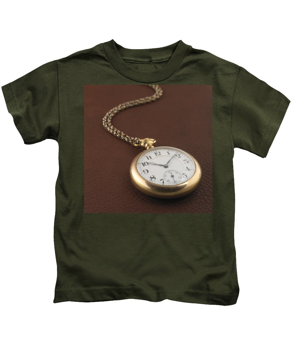 Pocket Watch Kids T-Shirt featuring the photograph Time by Jerry McElroy