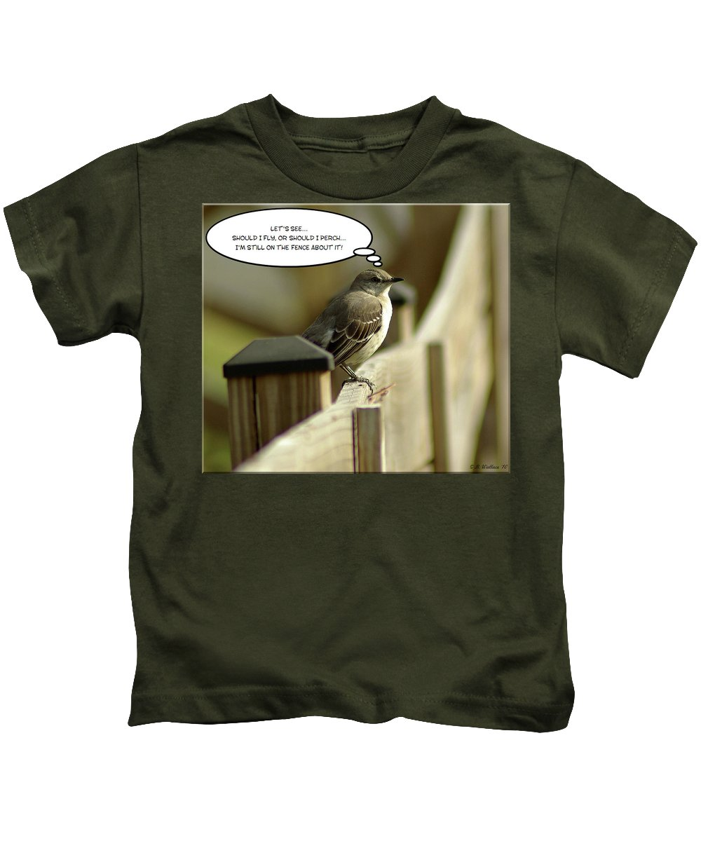 2d Kids T-Shirt featuring the photograph To Fly Or Not To Fly by Brian Wallace