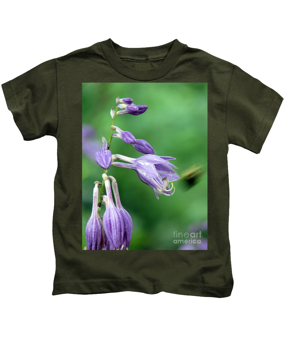 Bees Kids T-Shirt featuring the photograph Too Busy To Notice by Amanda Barcon