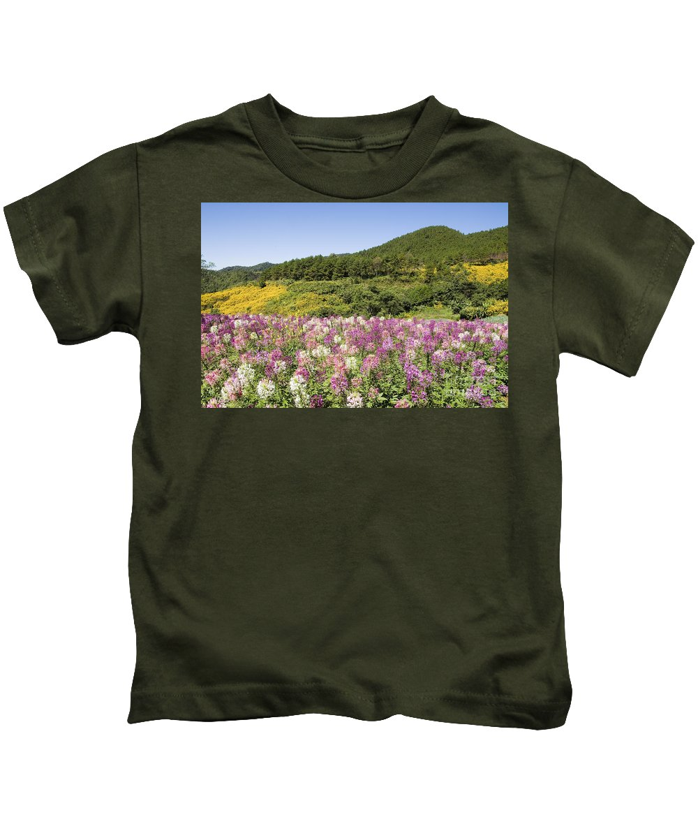 Beautiful Kids T-Shirt featuring the photograph Toong Bua Tong Forest Park by Bill Brennan - Printscapes