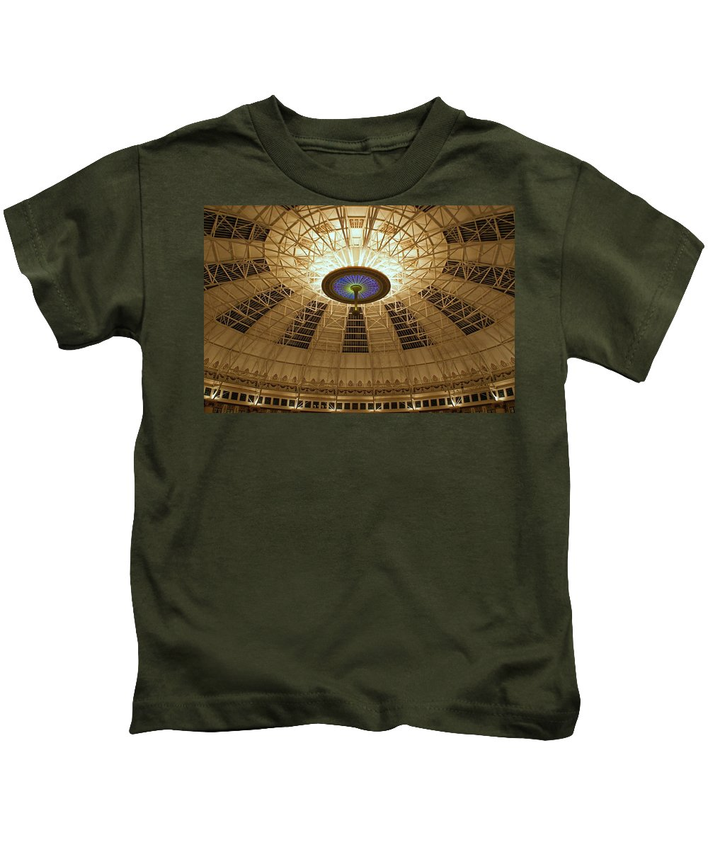 Domes Kids T-Shirt featuring the photograph Top Of The Dome by Sandy Keeton