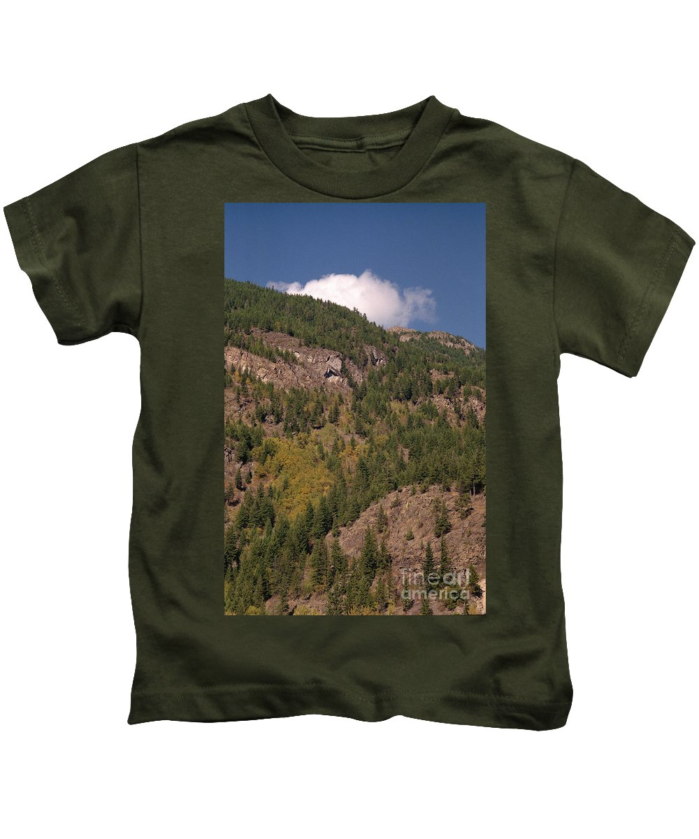 Mountains Kids T-Shirt featuring the photograph Touching The Clouds by Richard Rizzo