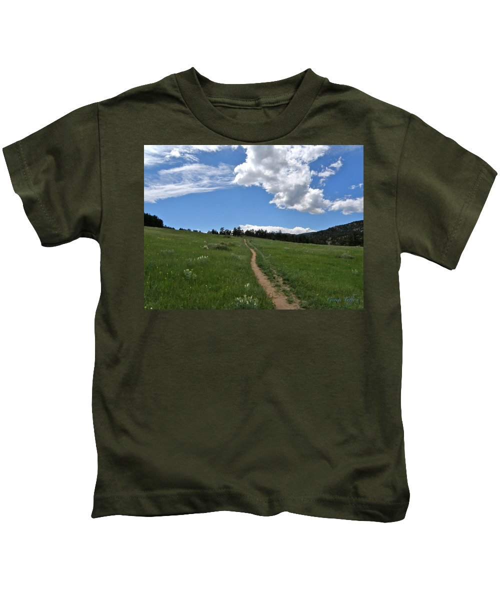 Walk Kids T-Shirt featuring the photograph Towards The Sky by George Tuffy