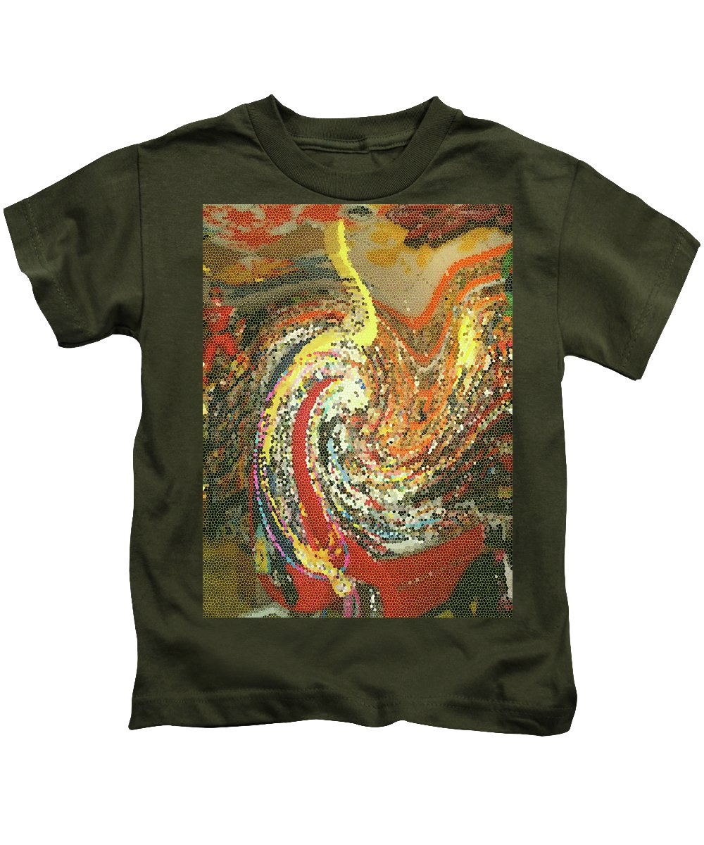 Abstract Kids T-Shirt featuring the photograph Toy Tsunami by Anne Cameron Cutri