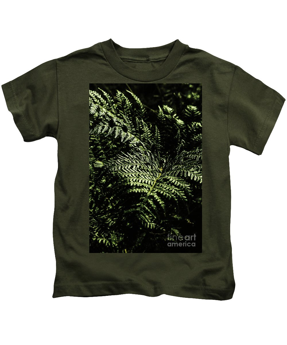 Forest Kids T-Shirt featuring the photograph Tranquil Botanical Ferns by Jorgo Photography - Wall Art Gallery