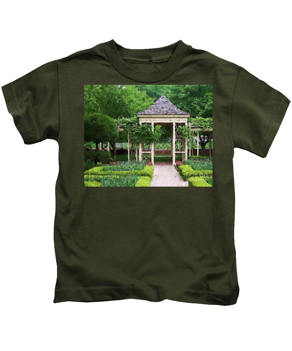 Garden Kids T-Shirt featuring the photograph Tranquil by Debbi Granruth