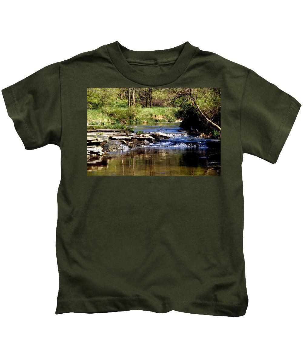 Creek Kids T-Shirt featuring the photograph Tranquil Stream by Gary Wonning