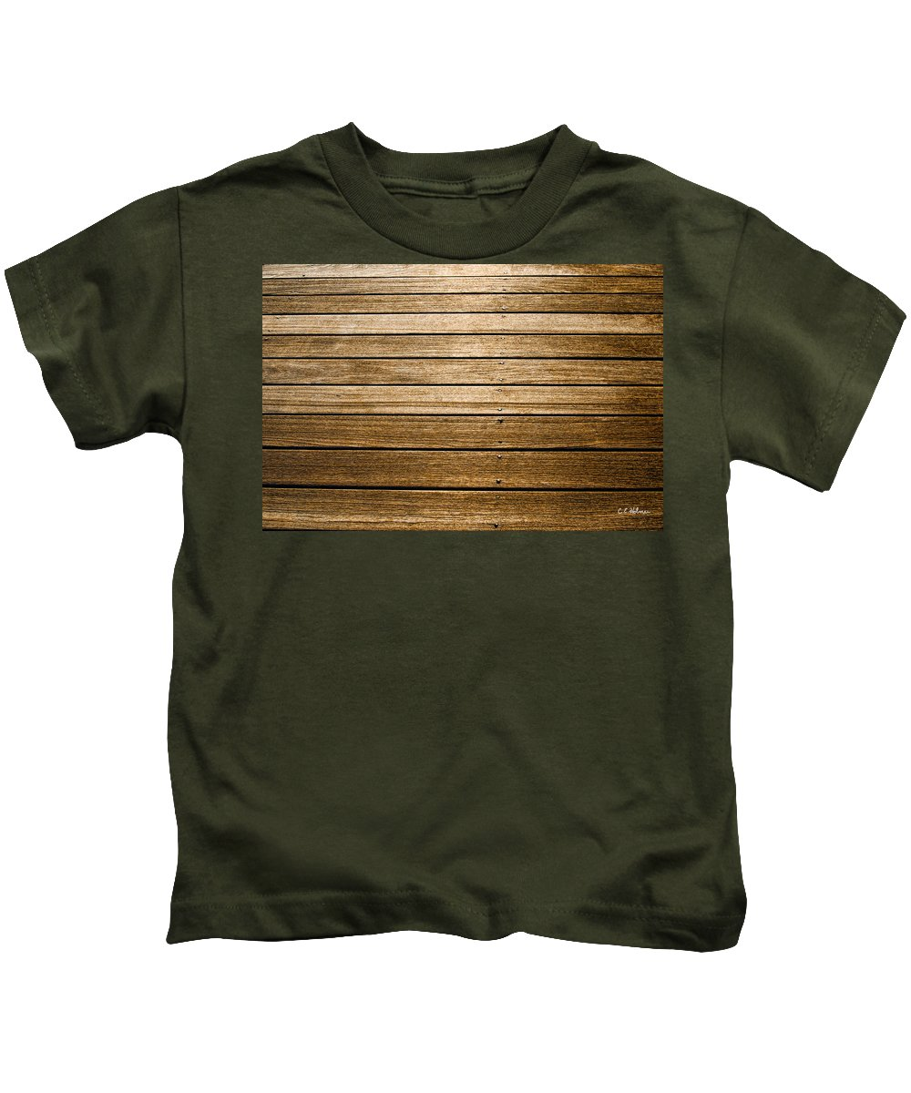 Deck Kids T-Shirt featuring the photograph Tread On Me by Christopher Holmes
