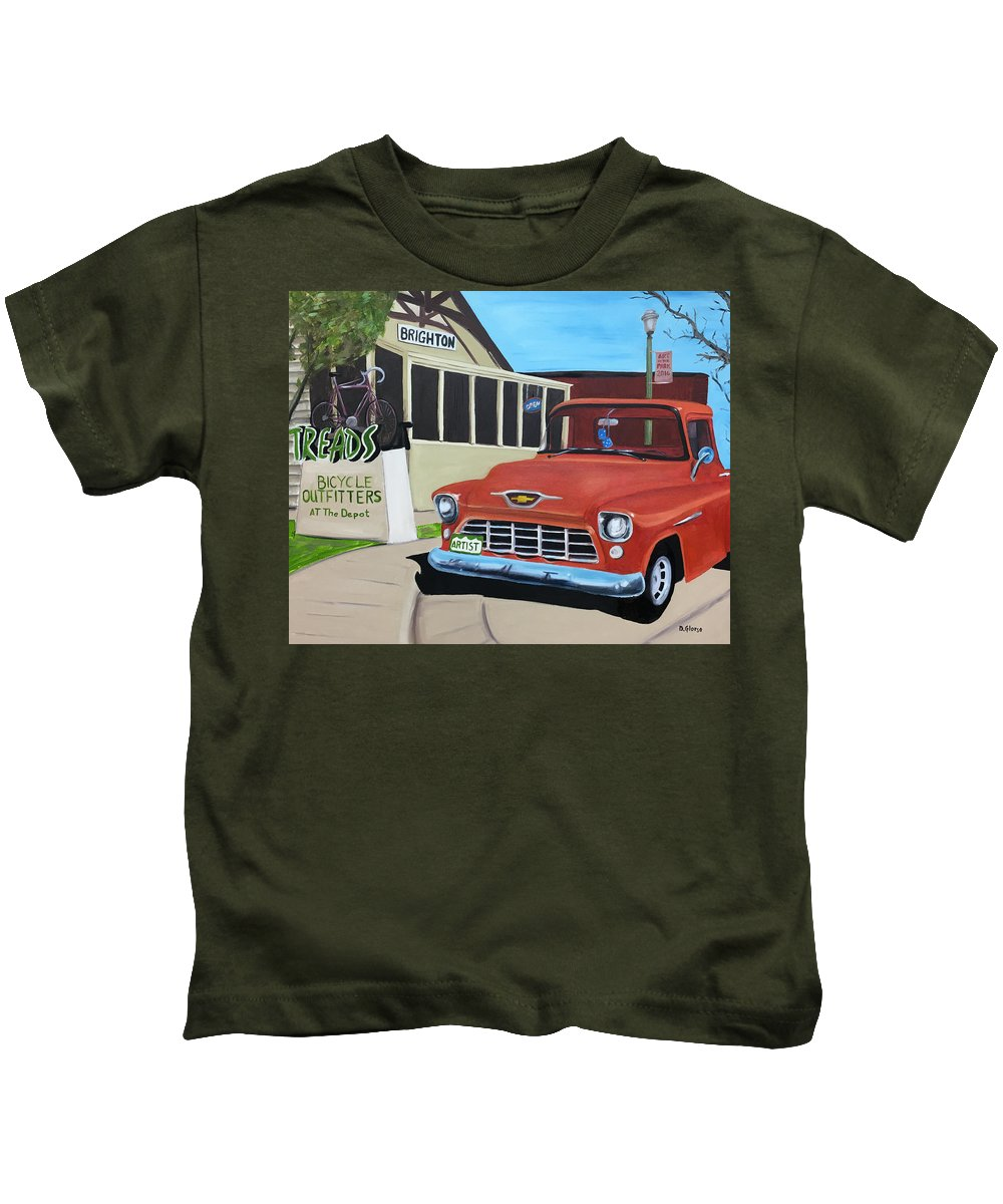 #glorso Kids T-Shirt featuring the painting Treads by Dean Glorso
