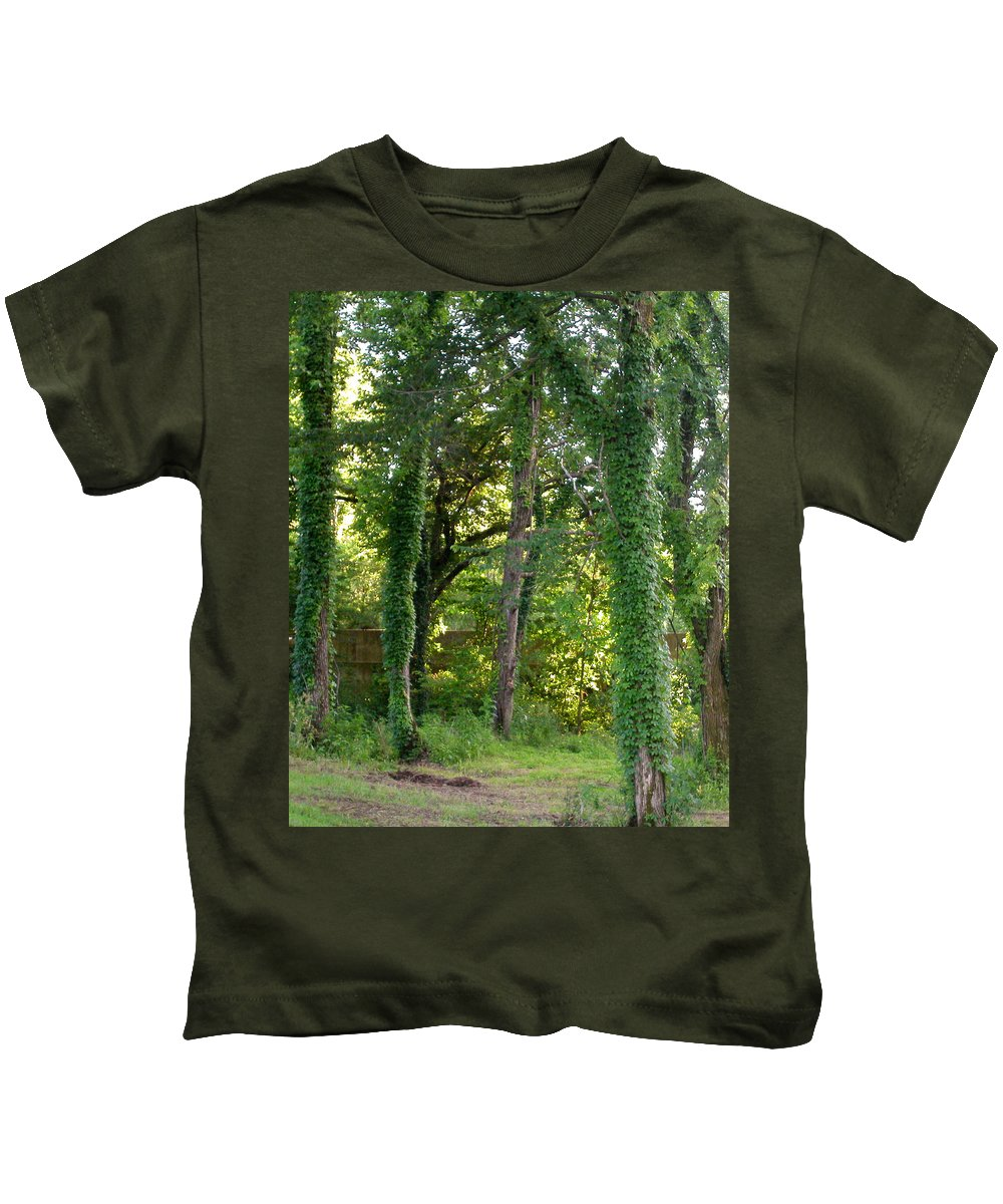 Trees Kids T-Shirt featuring the photograph Tree Cathedral 2 by Anne Cameron Cutri