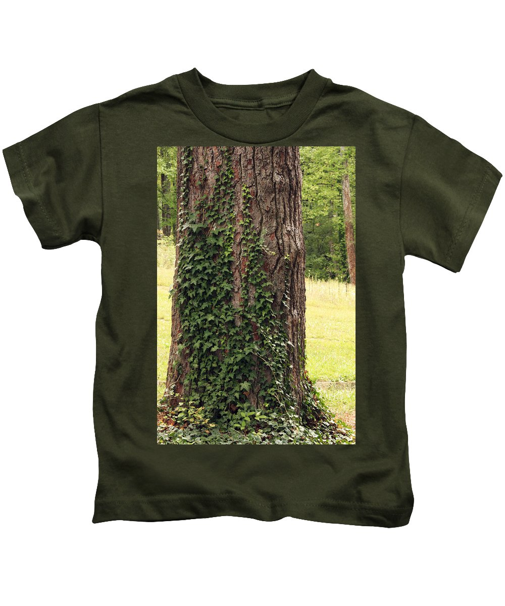 Bark Kids T-Shirt featuring the photograph Tree Of Ivy by Travis Rogers