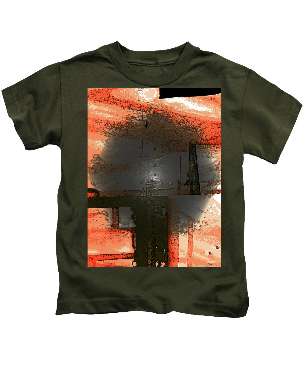 Abstract Kids T-Shirt featuring the photograph Trees Turning Grey by Lenore Senior