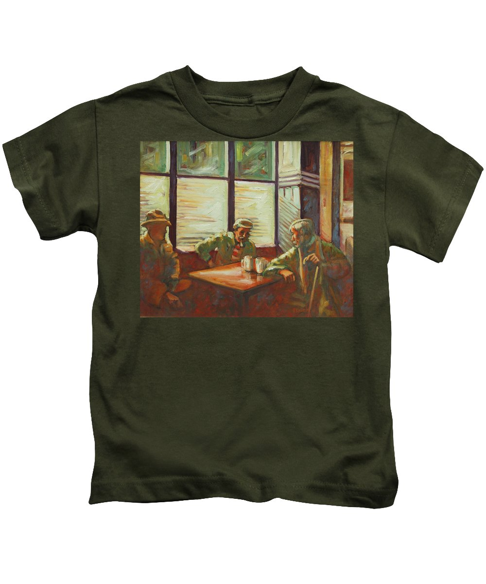 Men Kids T-Shirt featuring the painting Triest by Rick Nederlof