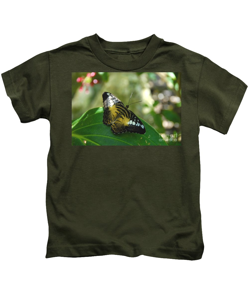 Butterfly Kids T-Shirt featuring the photograph Tropical Garden Beauty by David Lee Thompson