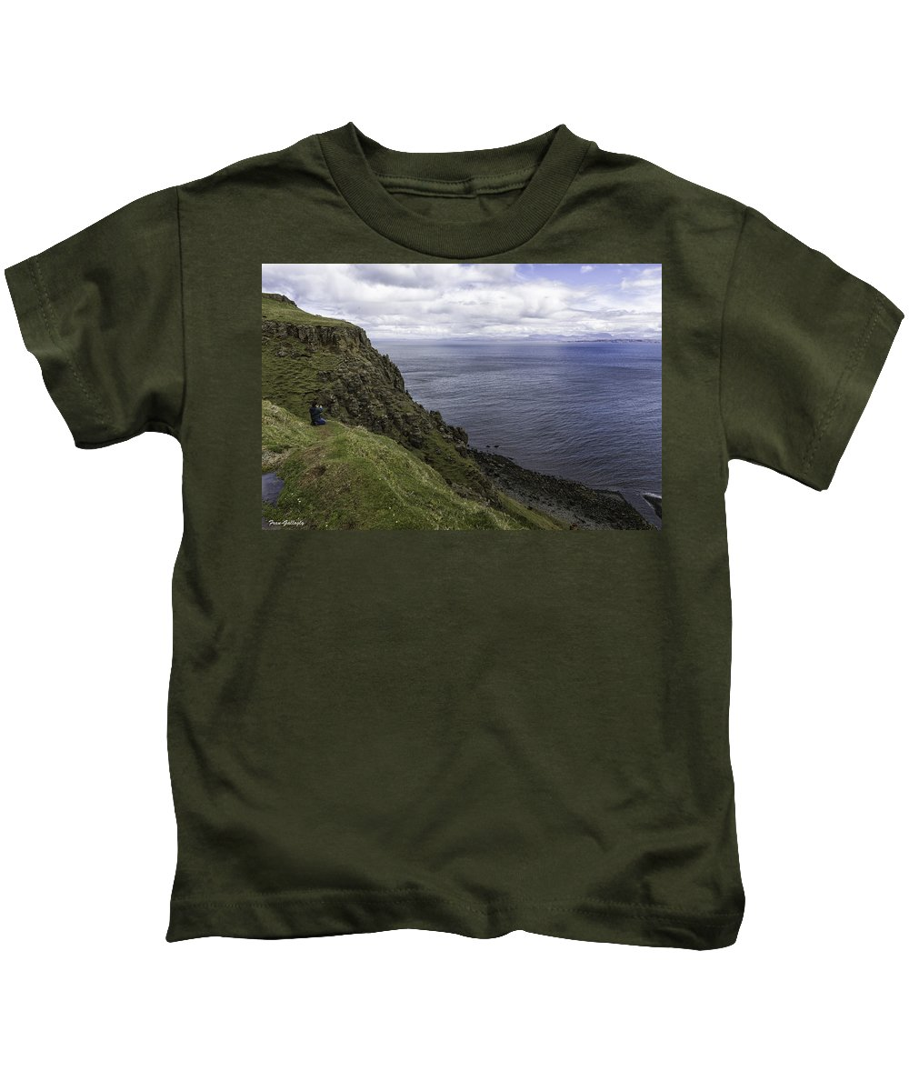 Trotternish Kids T-Shirt featuring the photograph Trotternish Landscape by Fran Gallogly