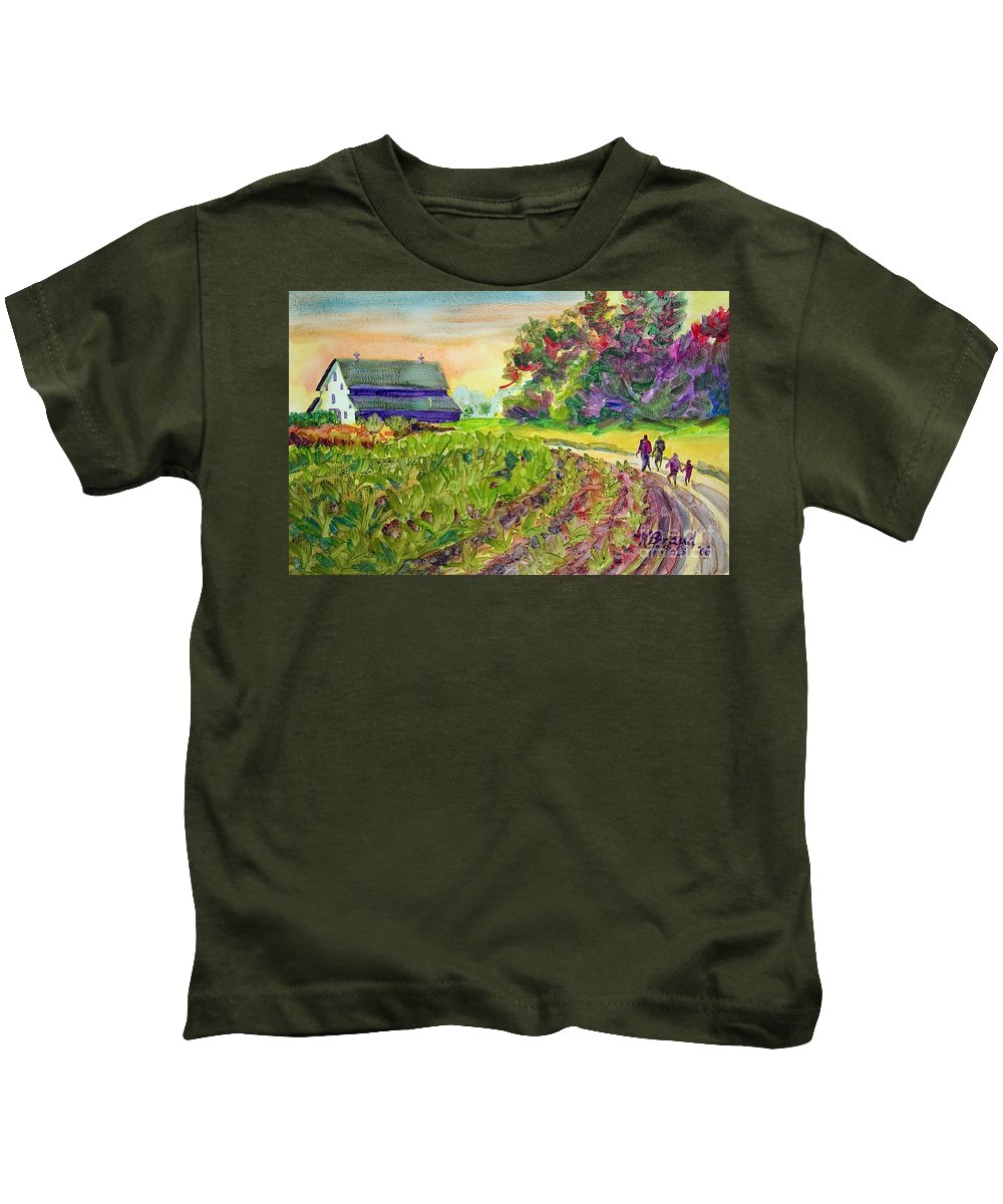 Paintings Kids T-Shirt featuring the painting Troy's Memories by Kathy Braud