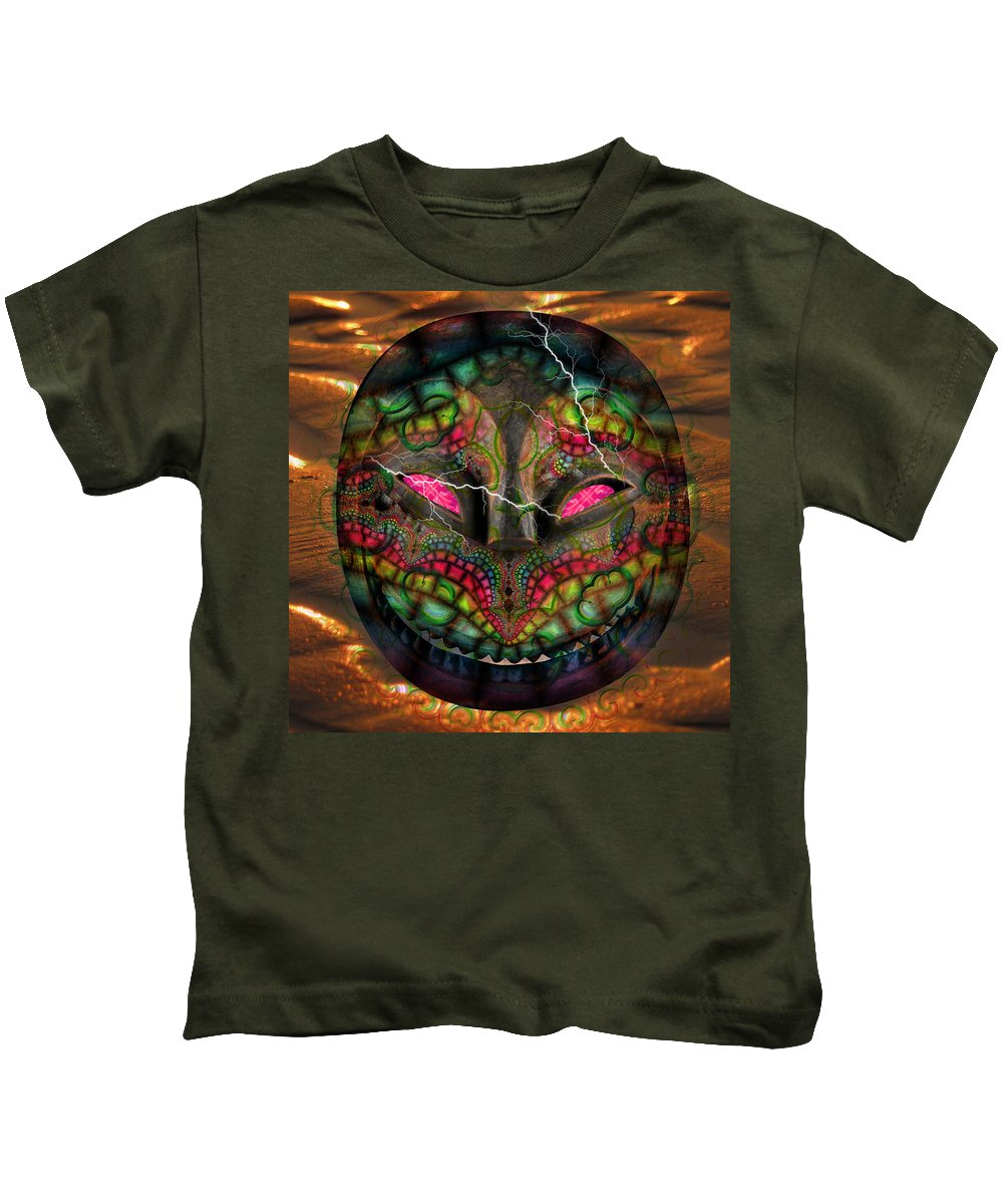 Kids T-Shirt featuring the painting Try Me On by Maciej Mackiewicz