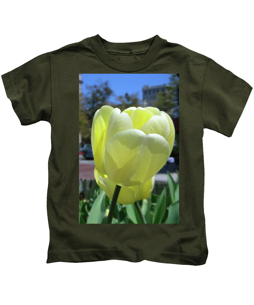 Flowers Kids T-Shirt featuring the photograph Tulip 0761 by Guy Whiteley