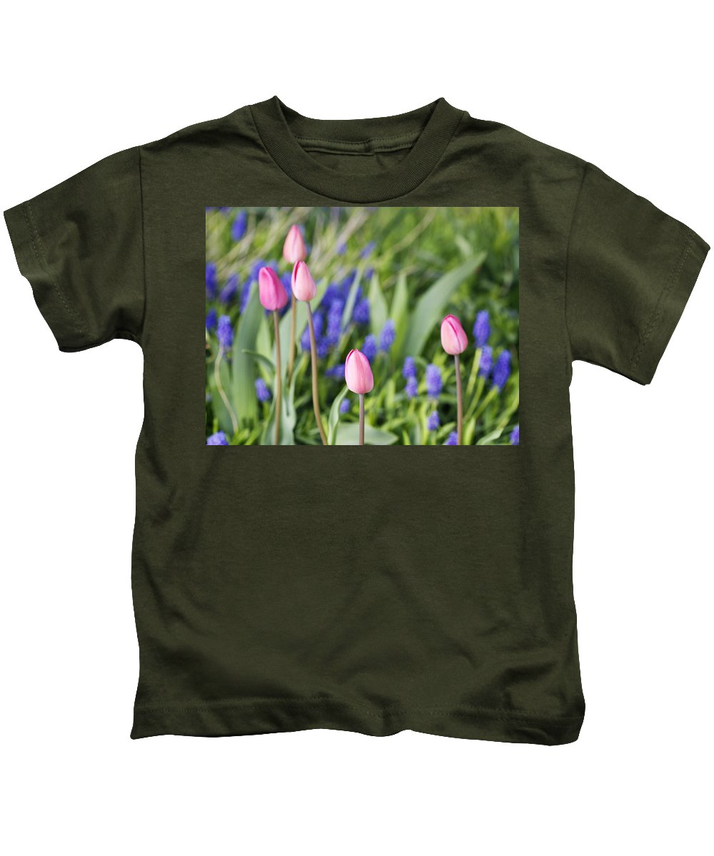 Flower Kids T-Shirt featuring the photograph Tulip Garden by Marilyn Hunt