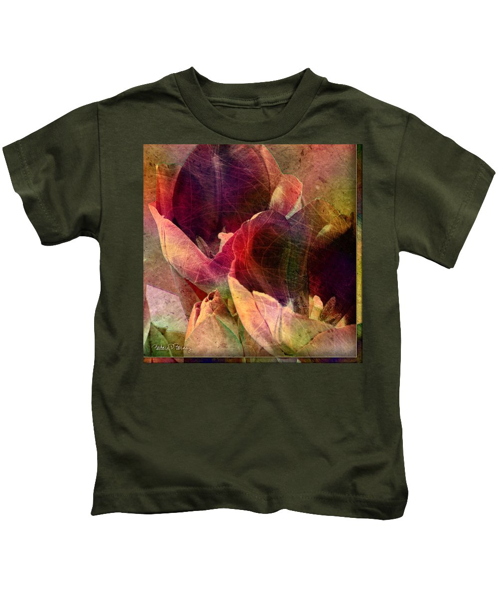 Tulips Kids T-Shirt featuring the digital art Tulips by Barbara Berney