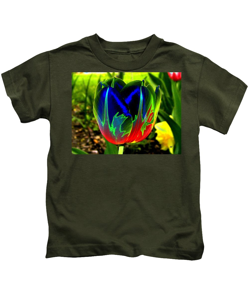 Resplendent Kids T-Shirt featuring the digital art Tulipshow by Will Borden