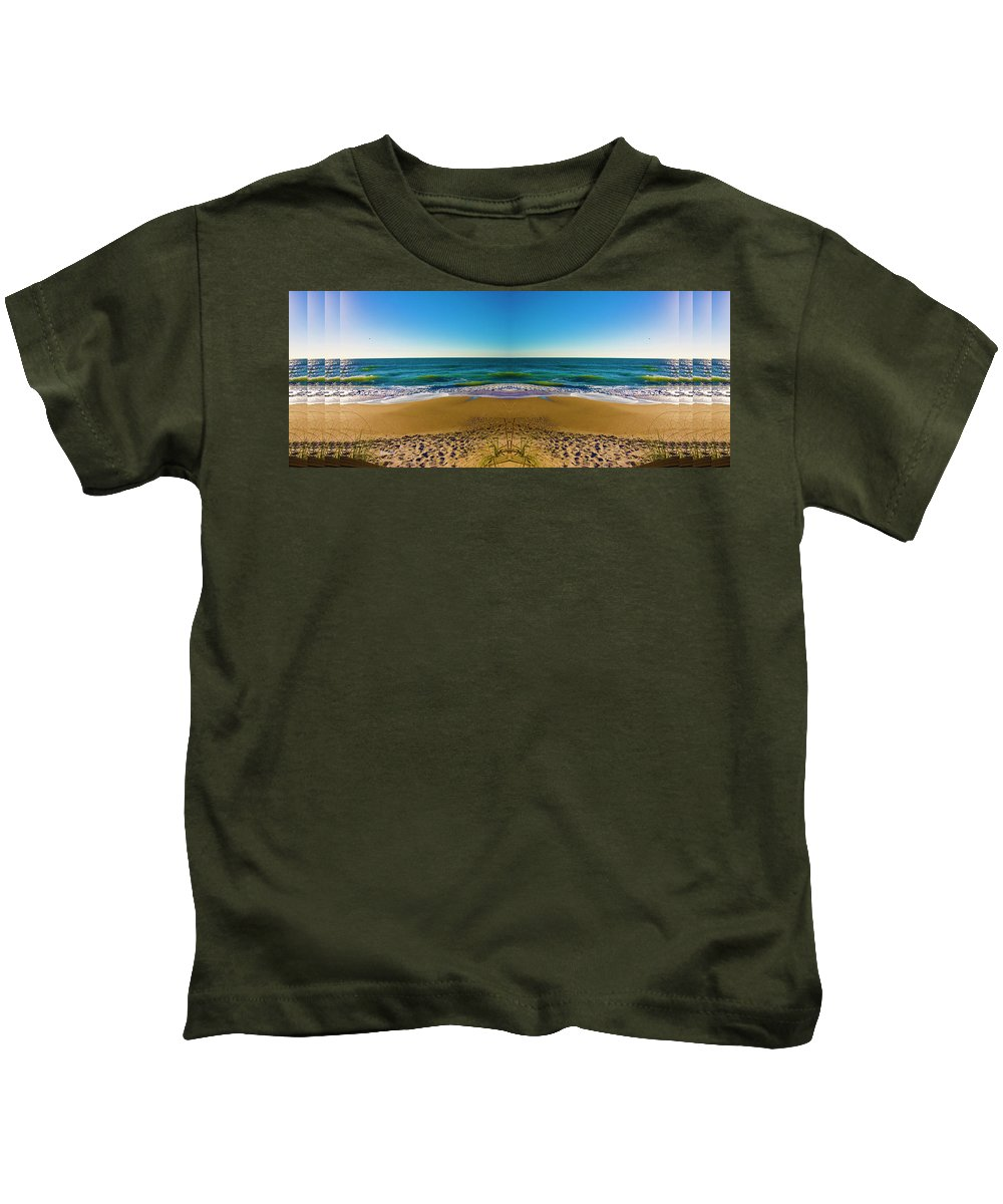 Beach Kids T-Shirt featuring the digital art Turn The Page by Betsy Knapp