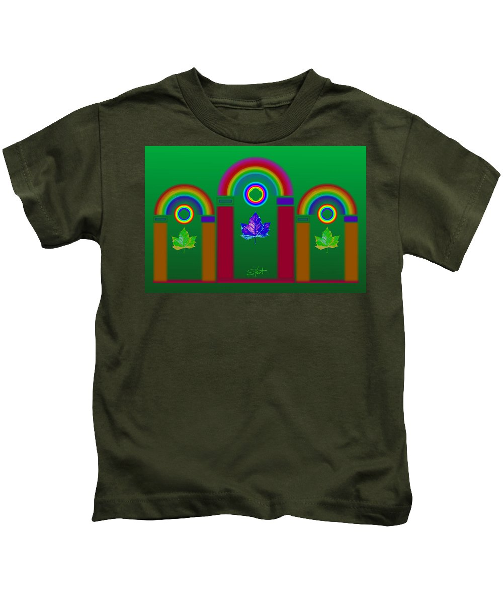 Classical Kids T-Shirt featuring the painting Tuscan Equinox by Charles Stuart