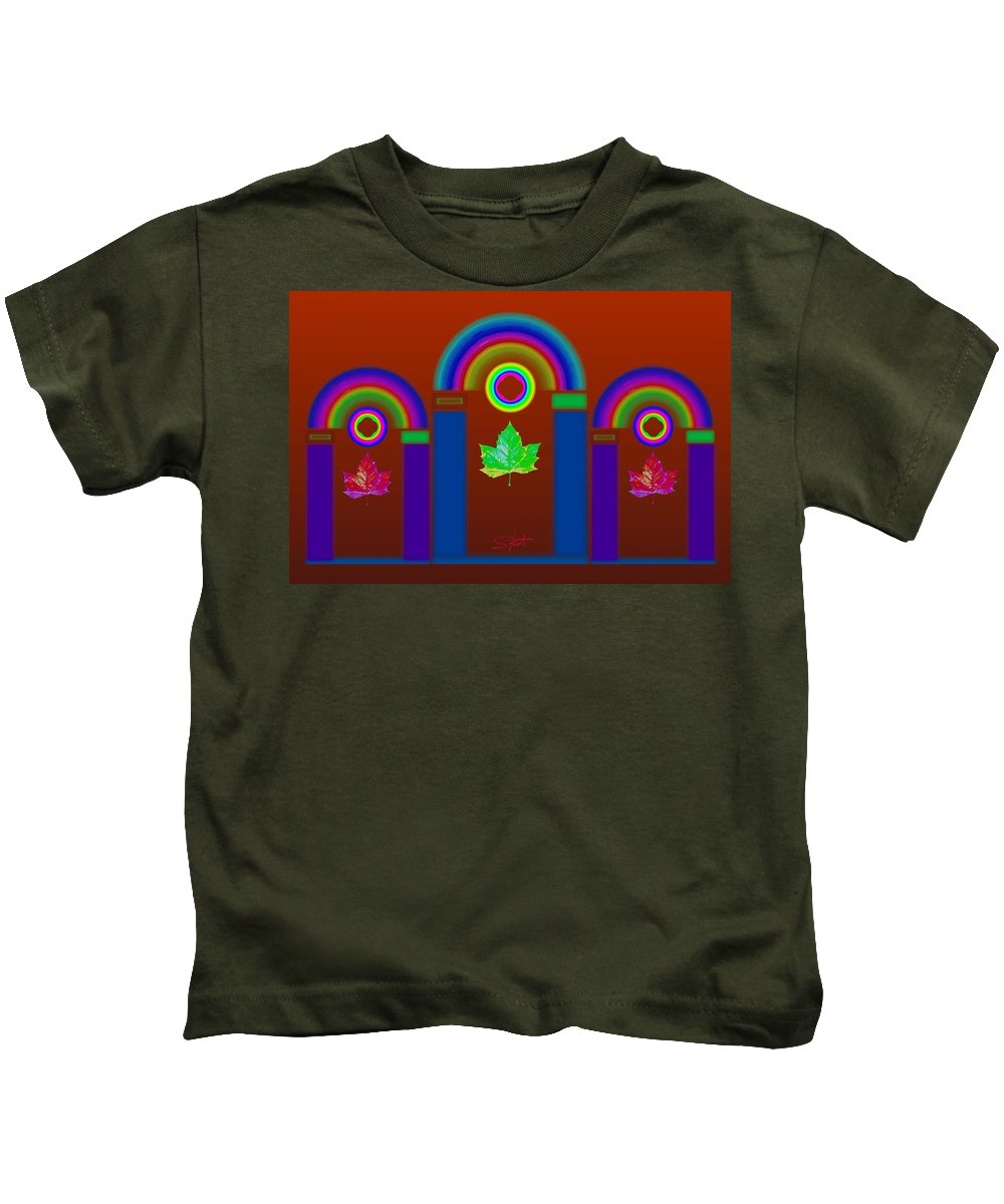 Classical Kids T-Shirt featuring the painting Tuscan Heat by Charles Stuart