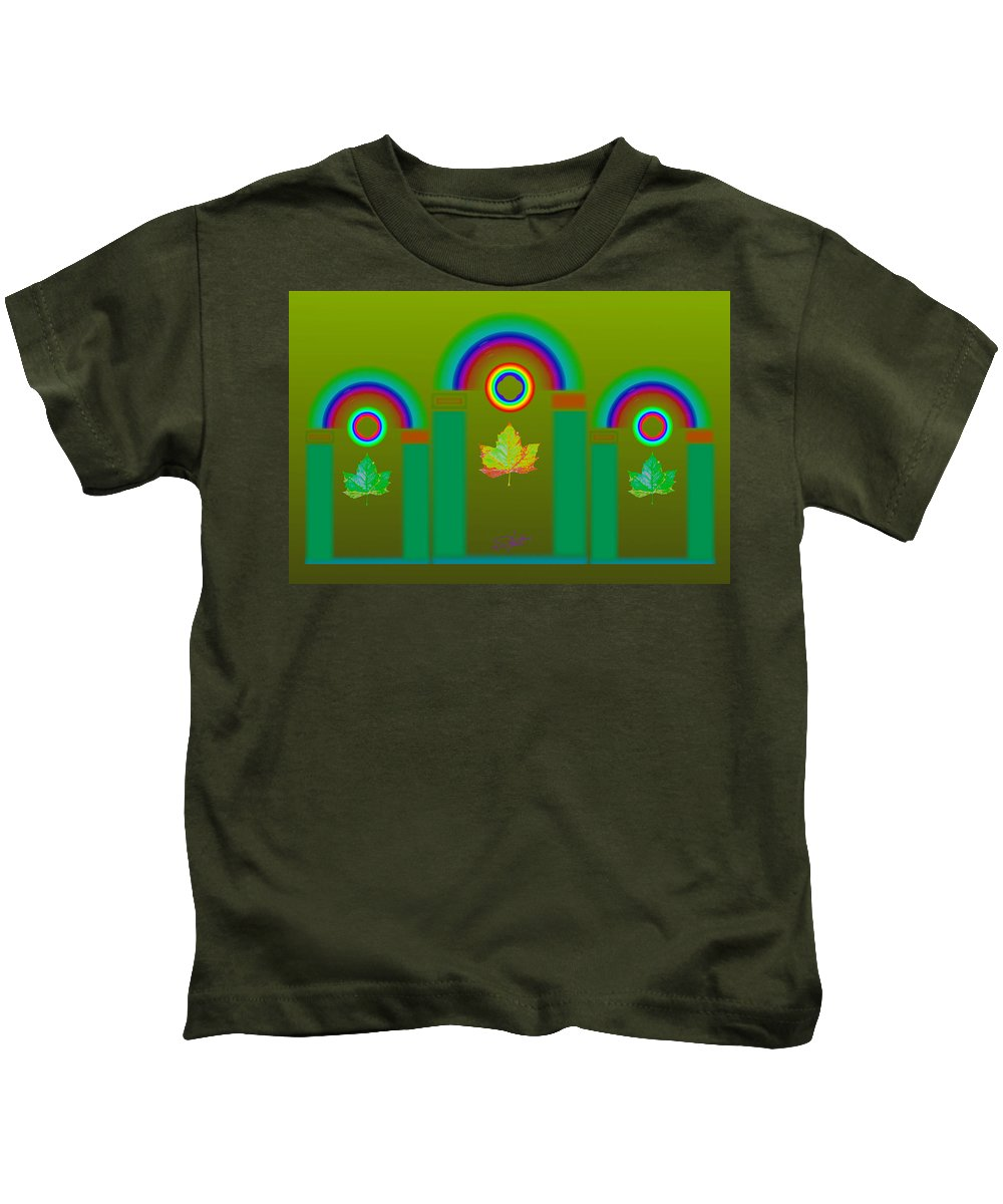Classical Kids T-Shirt featuring the digital art Tuscan Olive by Charles Stuart