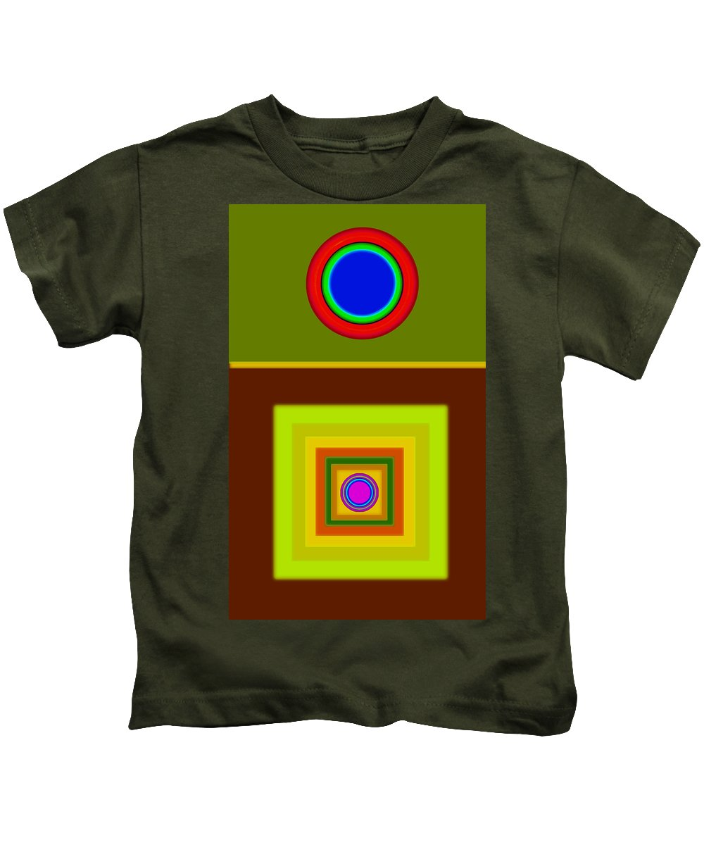 Classical Kids T-Shirt featuring the digital art Tuscan Sun by Charles Stuart