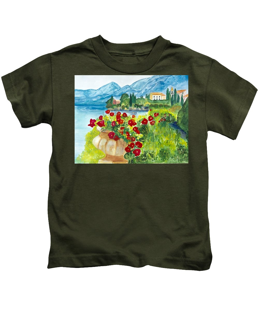 Landscape Kids T-Shirt featuring the painting Tuscany by Denise Mc Nellis