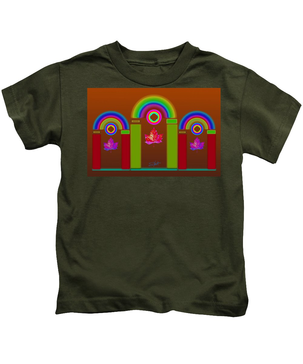 Classical Kids T-Shirt featuring the painting Tuscon Autumn by Charles Stuart